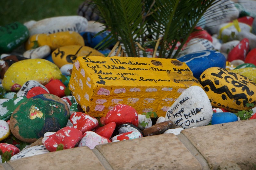 Stones outside Mandelas House