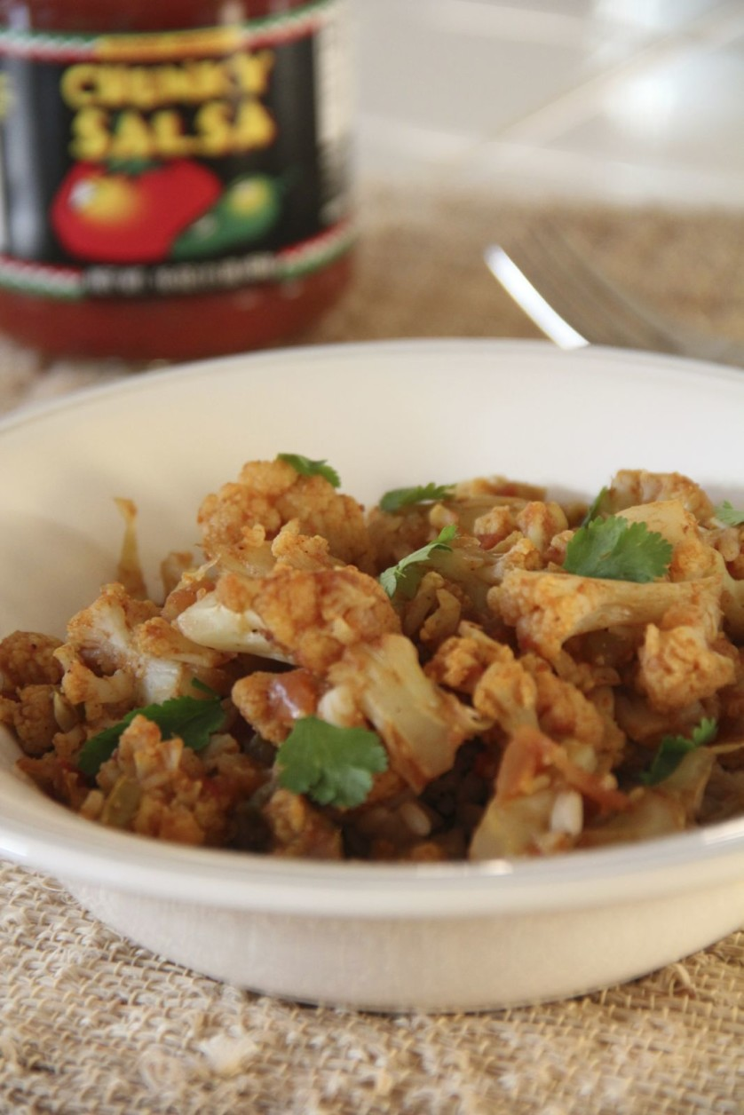 Quick Cauliflower Curry and other easy veggies from OrnaBakes