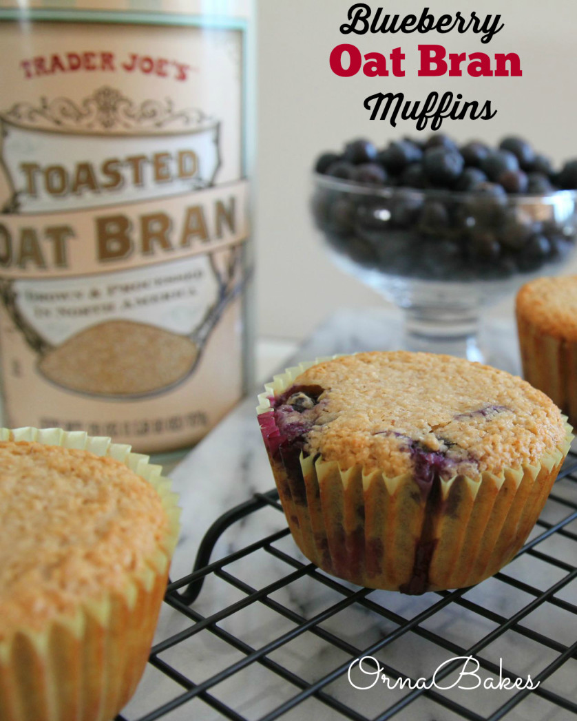 Quick and Healthy Blueberry Oat Bran Muffins - OrnaBakes