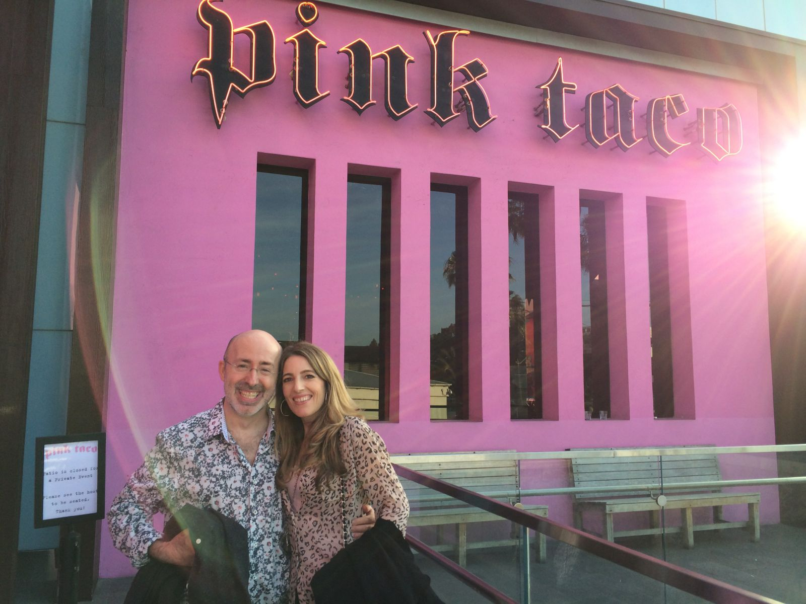 Orna and Sam Purkin at Pink Taco in Century City