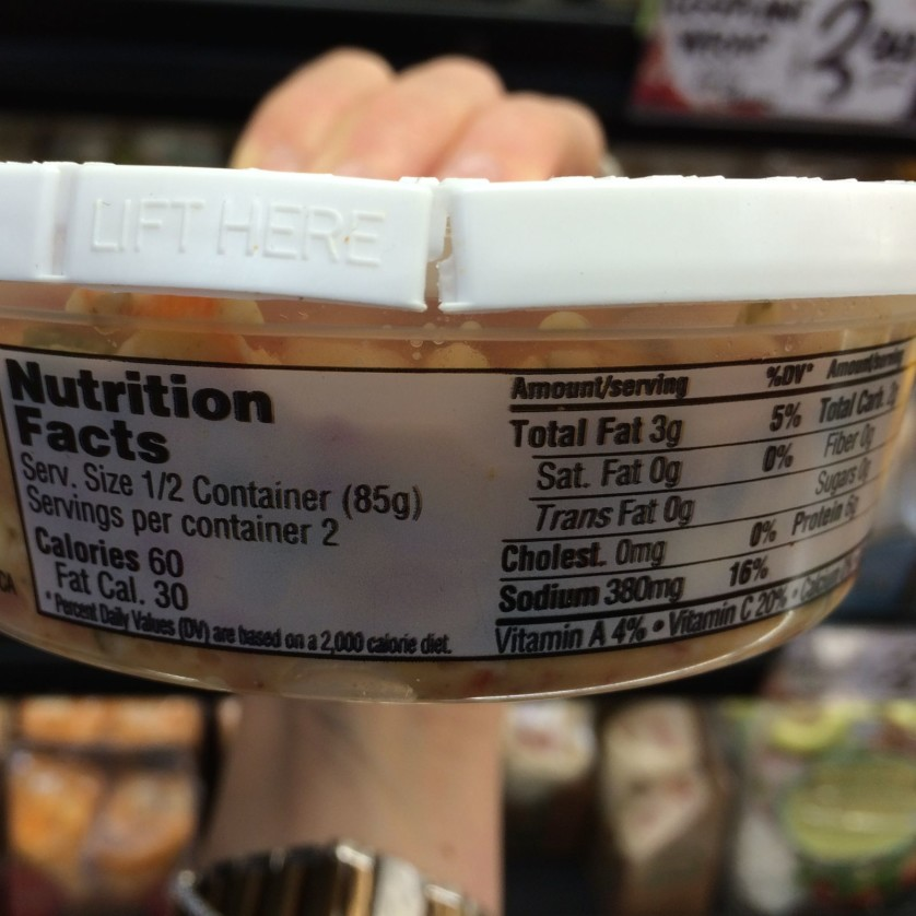spicy ranchero egg white salad nutrition facts