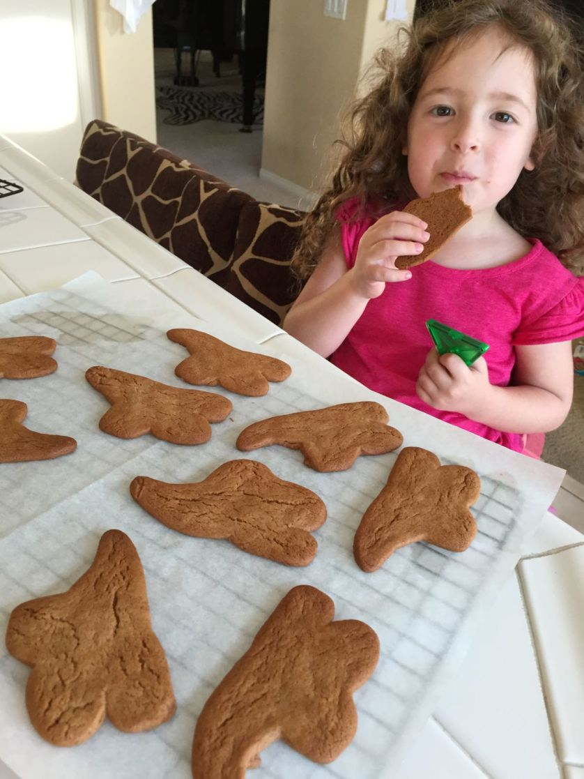 Ghost Ginger Cutout Cookies - OrnaBakes